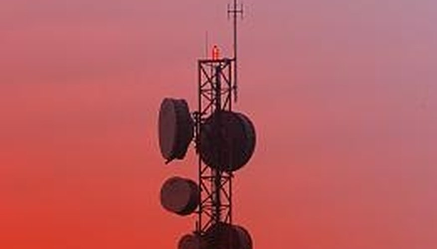 An antenna's length determines the radio frequencies it receives.