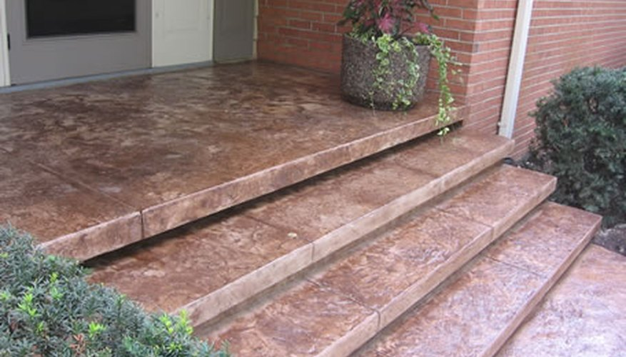 Stamped Concrete Porch Slab
