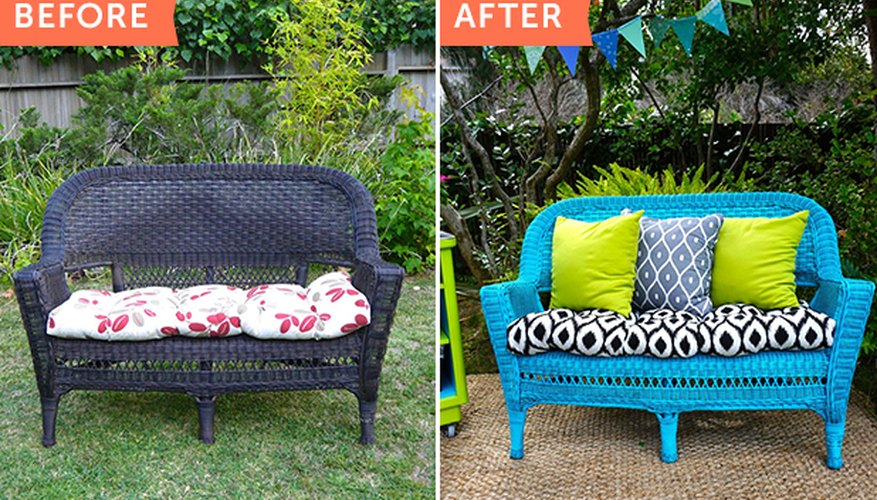 Turn an old wicker chair into this!