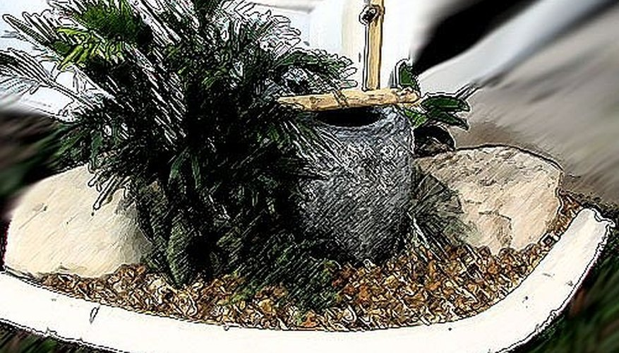 Sketch a plan for the water feature.