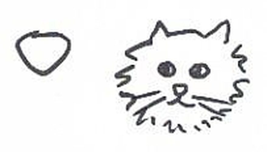 How To Draw A Cat S Nose Our Pastimes