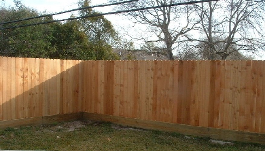 Backyard Wooden Fence