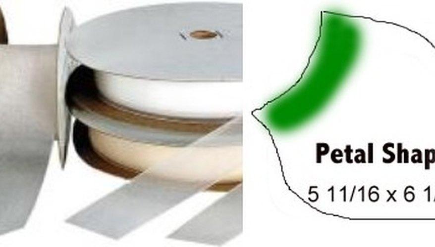 Wide Acetate Ribbon-Petals