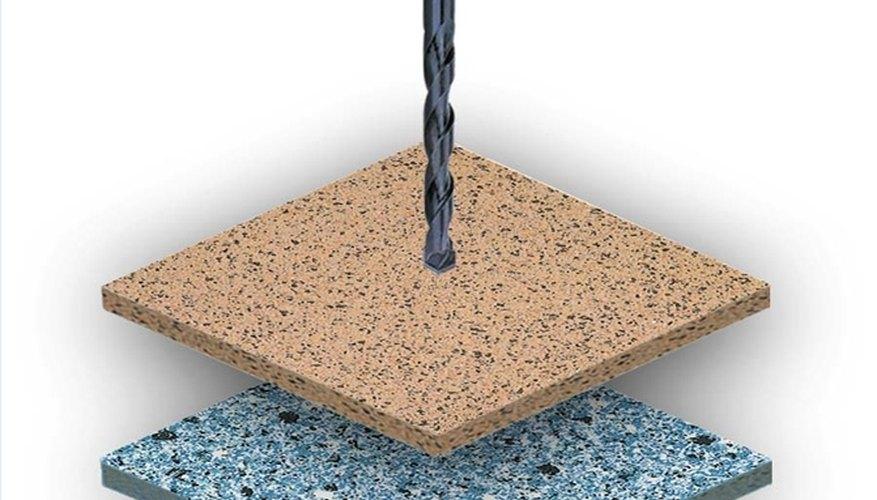 Drilling through ceramic tile