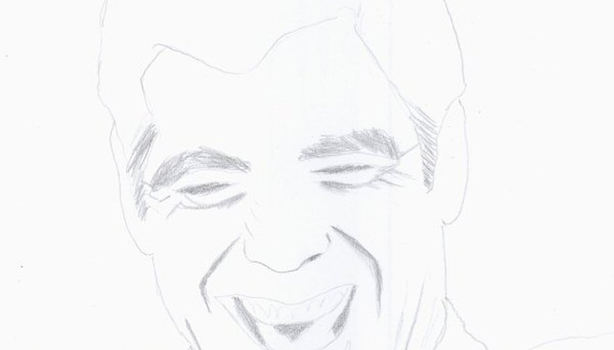 The setup for a picture of George Clooney laughing