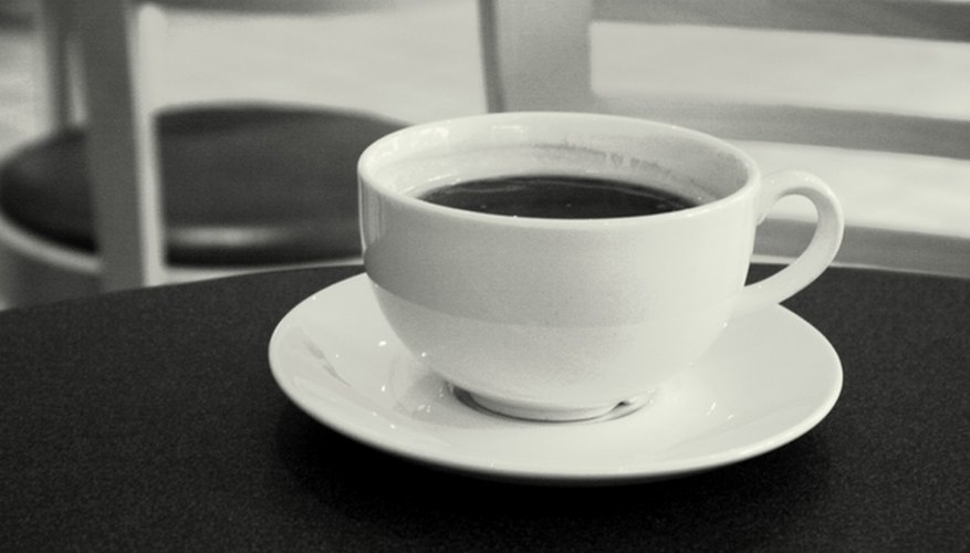 A saucer can prevent a cup ring and a coffee stain.