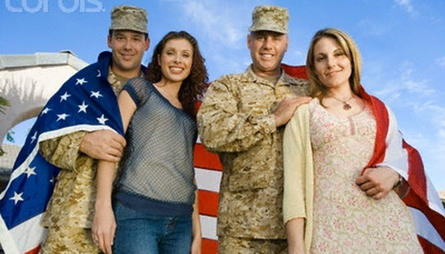 Many couples love the military lifestyle.