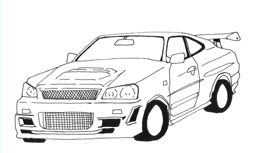 Draw a Nissan Skyline