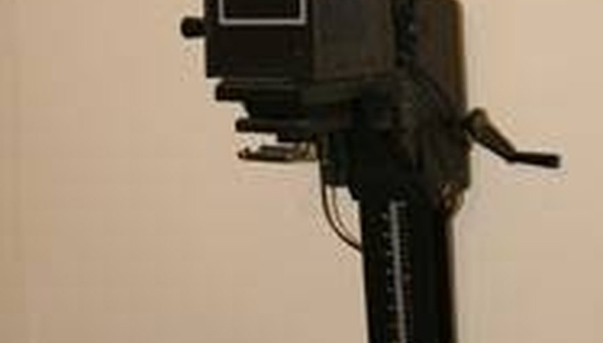 A photographic enlarger and easel
