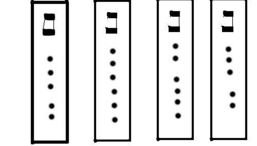 The arrangement of the fingering holes is highly individual, though there are general patterns to follow.