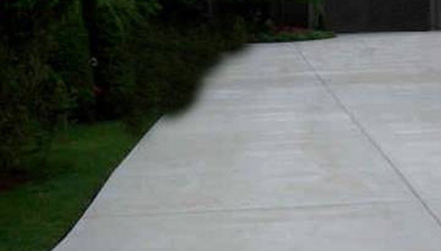 Concrete driveways can last 30 years or more.