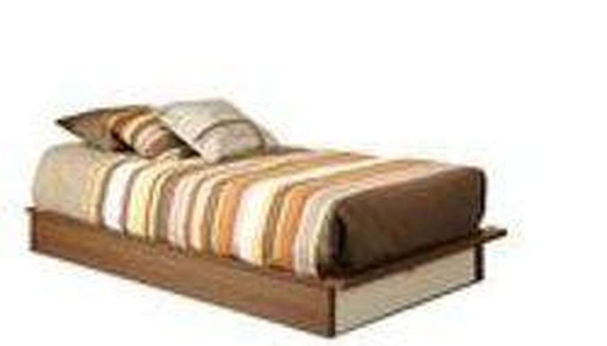 Platform bed with base and small platform top