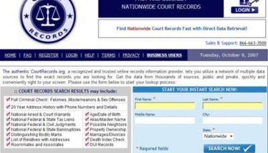 background check include of what
