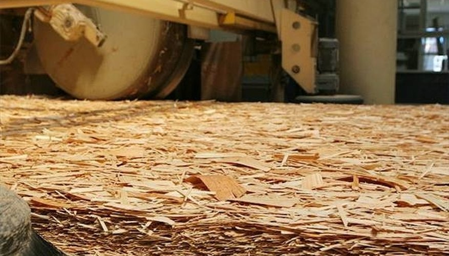 OSB being processed