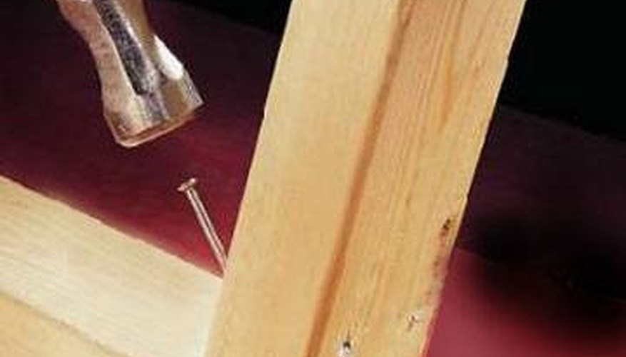 Use a 45-degree angle to attach studs to plates.