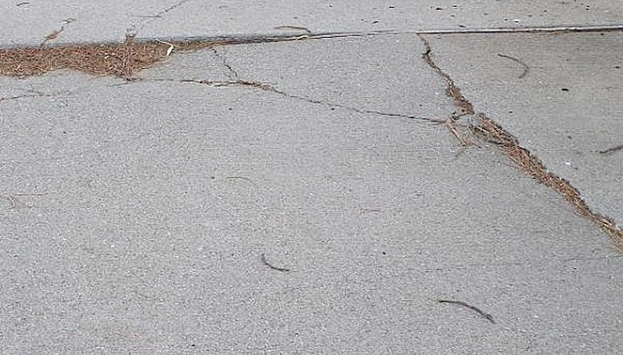 Cracks and lifting in the cement