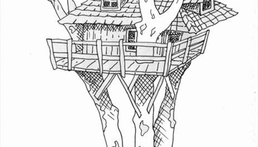 How To Draw Tree House Our Pastimes