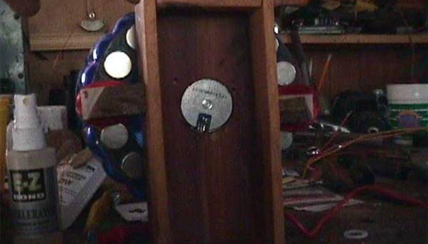 A Homemade Alternator in a Wooden Frame