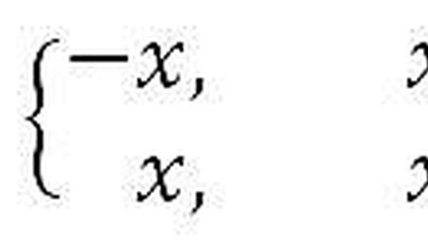Absolute Value Formula