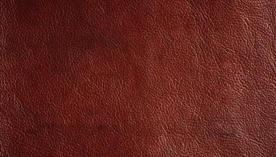 Like wood, leather is rated by the natural grain patterns on animal hides.