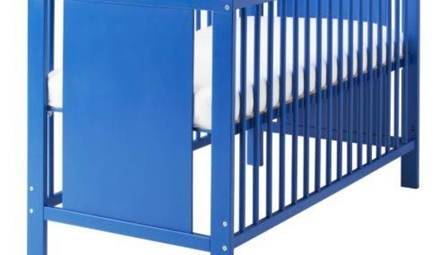 Be sure to purchase high quality lead-free enamel paint for painting your crib.