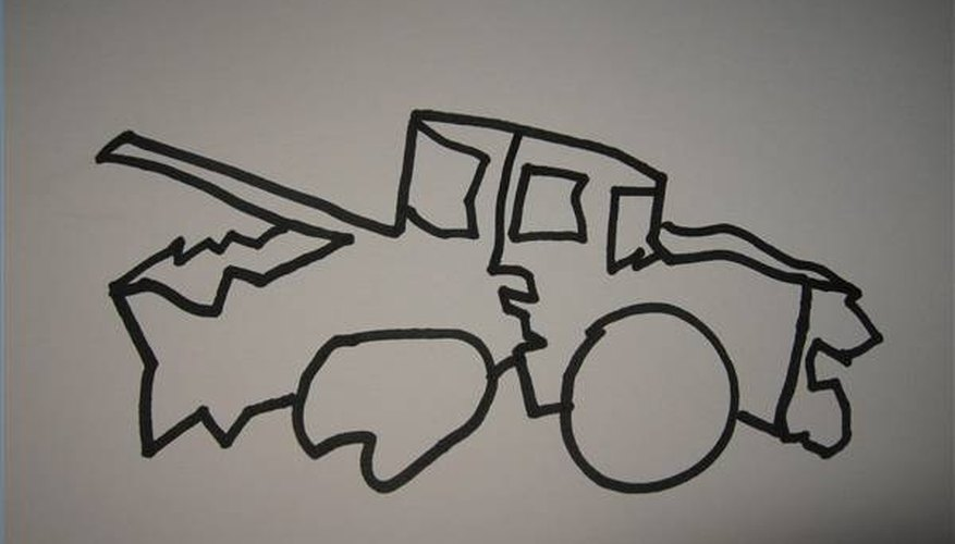How To Draw A Wrecked Car Our Pastimes