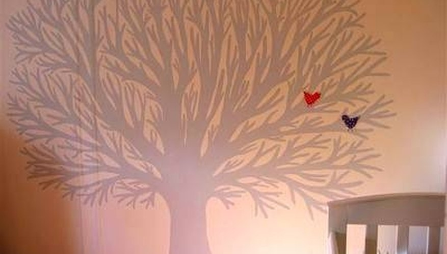 Change a room's look entirely by adding a tree mural