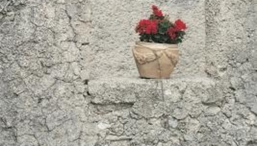 Stone plant pots add charm to any home.