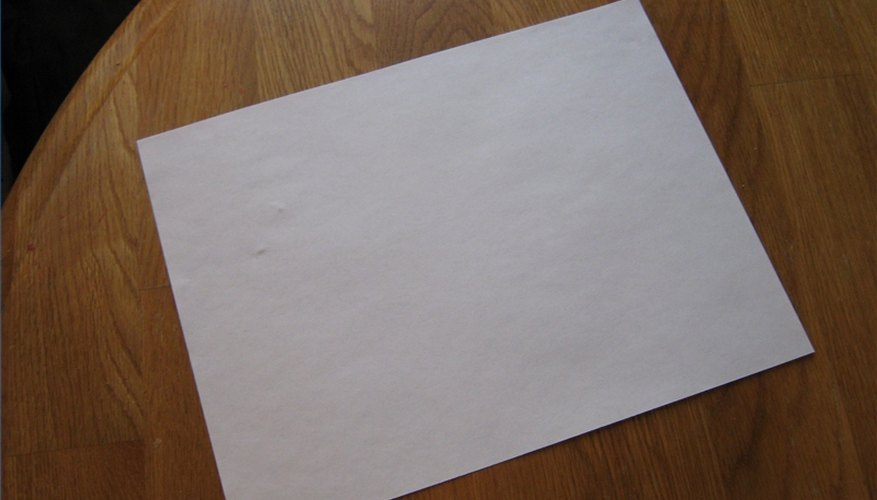 Lay out your paper on a clean, smooth surface.