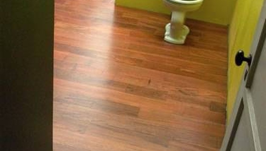 A raised toilet on a new floor.