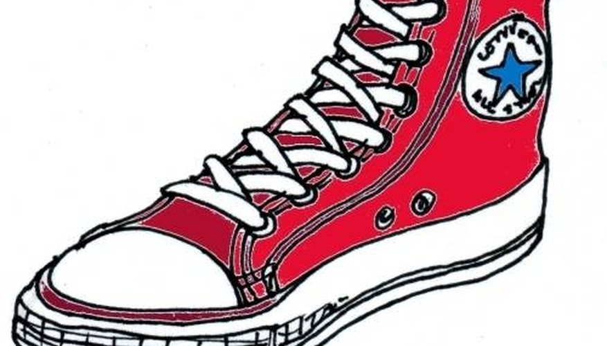 Converse Shoe Drawing