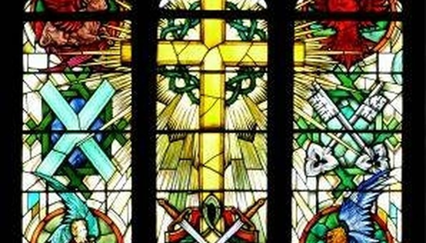 Biblical Stained Glass Window