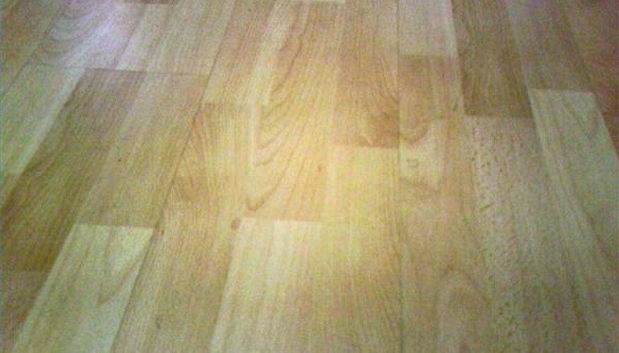Finished wood floor