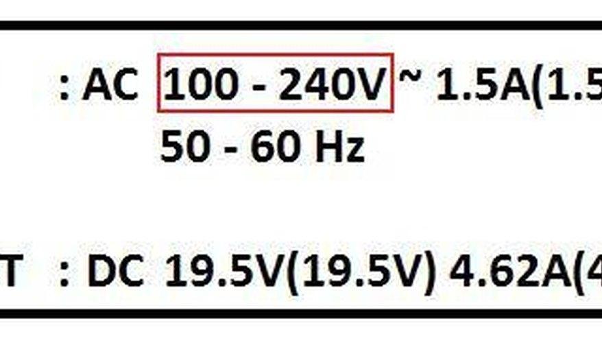 Find the voltage input.