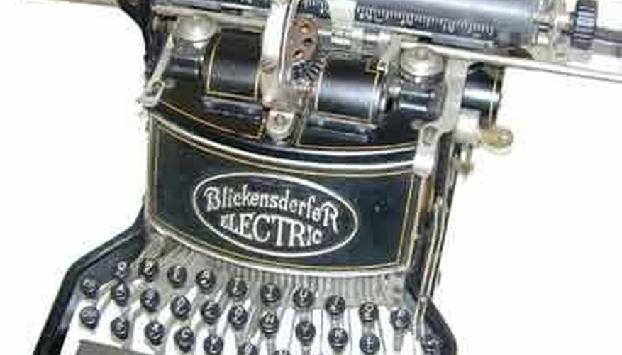 The 1902 Blickensderfer Electric didn't sell because of the novelty of electricity.