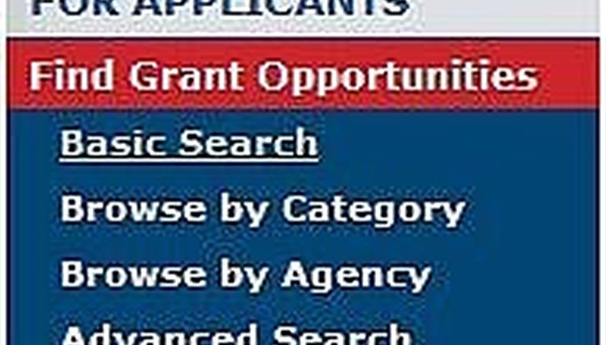 Use Advanced Search for Business Grants