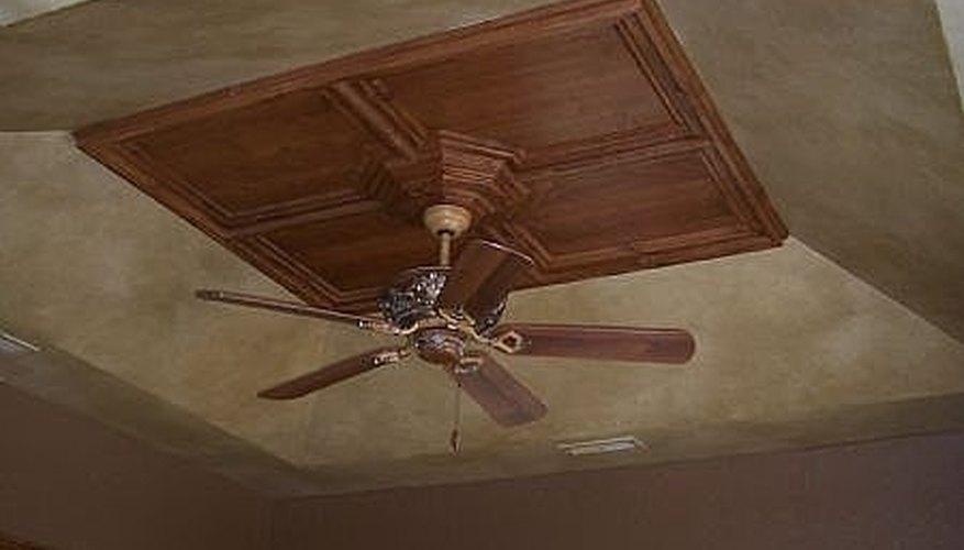 Beige painted ceiling
