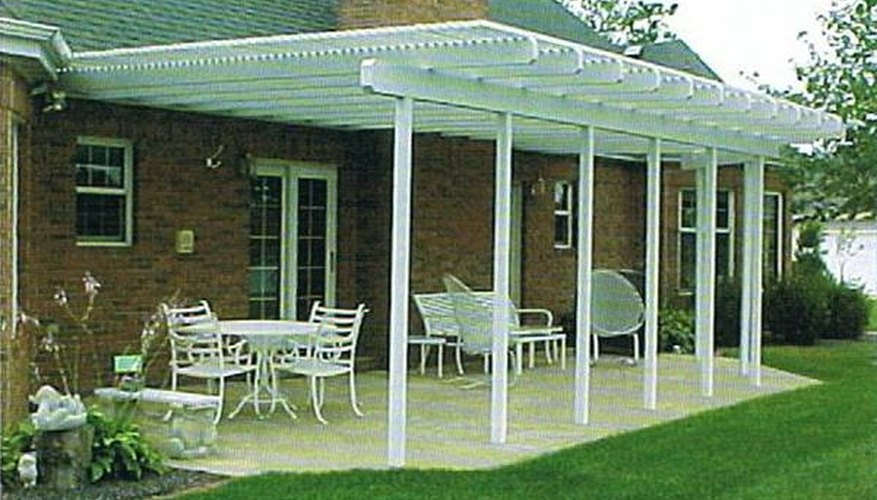 Add a Lattice Shade Cover Over a Patio