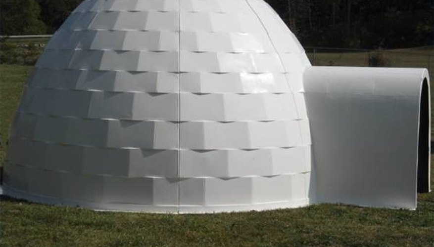 Block style dome with door