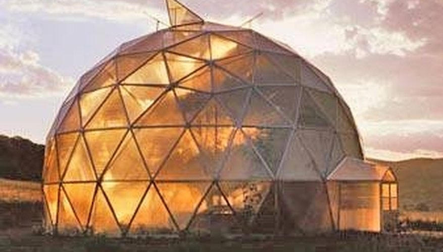A Geodesic dome greenhouse