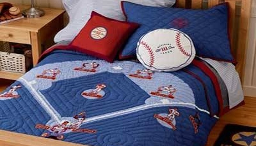 Baseball-themed bedding