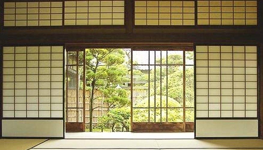 Tatami room with shoji-panel walls.