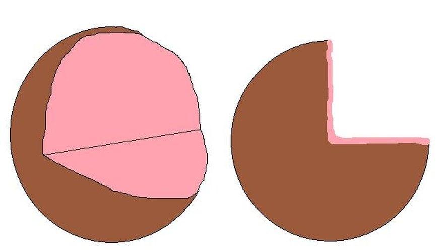 The pink interior represents cytoplasm.