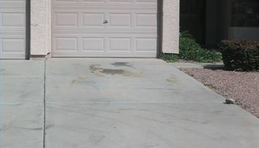 Iron stains can leave driveways, patios and sidewalks looking bad.
