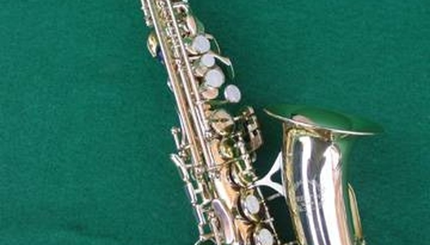 A curved neck soprano sax