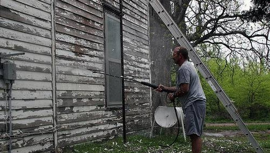 Remove Paint With a Pressure Washer