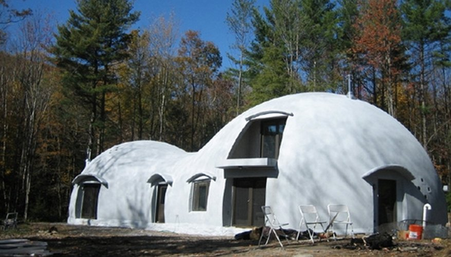 Monolithic dome house--note smooth form.
