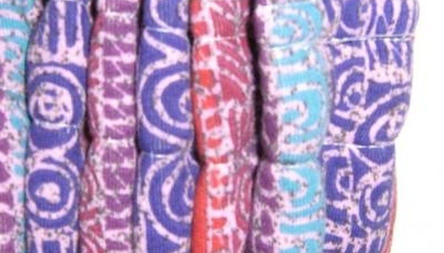 Row of pencil pleats