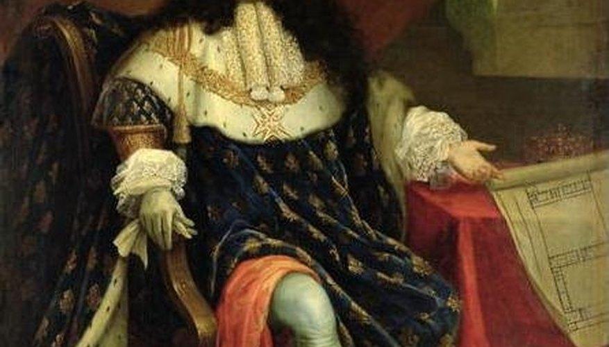 Louis XIV, on a Renaissance chair, Puublic Domain
