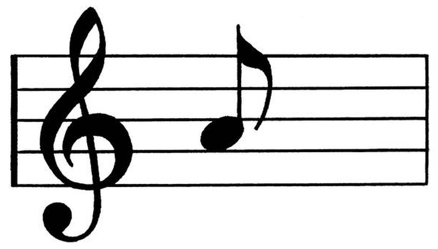 Treble clef and eighth note